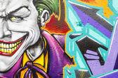 Barevné graffiti, abstraktní grunge graffiti pozadí