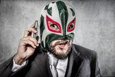 Muž v masce mexický zápasník