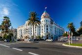 Luxusní hotel negresco na anglické promenádě v nice, francouzský rivie
