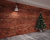 Cristmas nápis na zdi