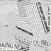Black and white repeating torn newspaper background