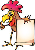 Funny Chicken with banner