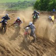 Постер, плакат: Accident on the Russian championship trophy raid among ATVs and motorcycles
