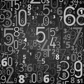 Vector numbers background