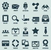 Sada marketingu Internetu a ikony služeb - část 3