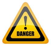 Vector danger sign eps10 illustration