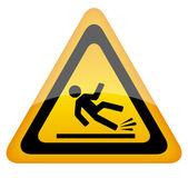 Wet floor warning sign vector illustration isolated on white