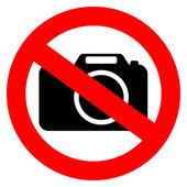 Keine Foto-Kamera-Vektor-Zeichen