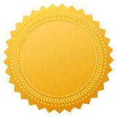 Blank gold seal vector clip art