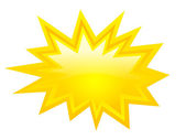 Yellow bursting icon vector clip art