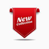 Nová kolekce red label ikona vektorová design