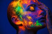 Detail barevné ženy tvář umění