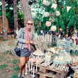 Постер, плакат: Girl in the woods at the fair beaut