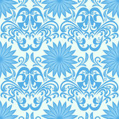 Blue seamless floral damask Wallpaper is presented