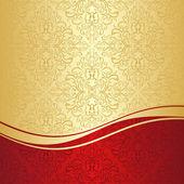 Luxusní dekorativní pozadí: zlatá a červená