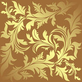 Luxury ornamental golden Background with floral elements is presented