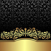 Luxury ornamental Background decorated the Vintage ornament: gold and black is presented