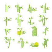Bambus vektor symbol ikony nastavit