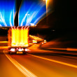 Постер, плакат: Impression style of picture of moving traffic on a motor way