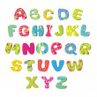 Постер, плакат: Bright childrens alphabet