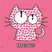 Cute kitty seamless texture illustration