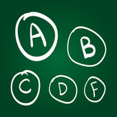 Hand drawn vector grades