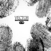 Vektorové palce, prsty tisk pozadí