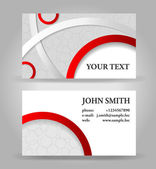 Red and gray business card template vector