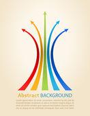 Colored arrows vector Design template