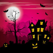 Scary house - Halloween background