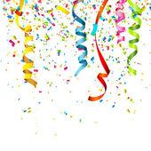 Coriandoli colorati, isolato su sfondo bianco