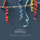 Sfondo di compleanno con coriandoli colorati - stile moderno