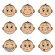 Постер, плакат: Set childrens faces with different emotions