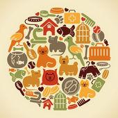 Domácí zvířata symbol