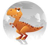 Cartoon t-rex dinosaur Vector Illustration clip art