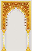 Vector illustration of high detailed islamic arch design in eps 10 format