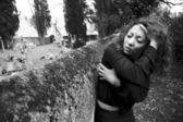 Těžké bolesti ženy ve smutku