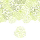 Vector illustration leaves of palm tree Seamless pattern