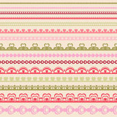 Set of hand drawn lace paper punch borders.