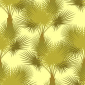Vector seamless pattern of palm trees