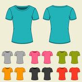 Sada šablon barevná trička pro ženy