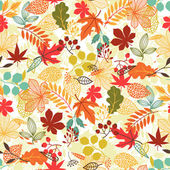 Bezešvá vektorová vzor s stylizované podzimní listy
