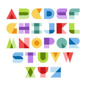 Design elements Vector illustration of colorful abstract letters