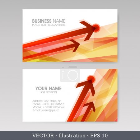 Business Card Set with arrows. EPS10