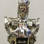 Постер, плакат: LONDON UK JULY 06: Replica of Terminator 2 killer robot at th