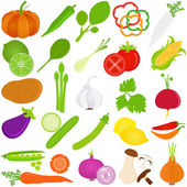 Colorful Food vector Icons : Fruit and vegetables