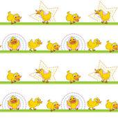 Illustration of ducks on a white background