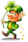 Ein alter Mann feiert St. Patricks Tag
