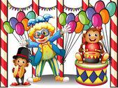 Karneval s klaun a opice