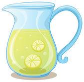 Illustrazione di una brocca di succo di limone su sfondo bianco